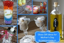 Gifts - Glass Gift Ideas / A collection of DIY Glass Gifts, perfect for Mother's Day or any gift giving occasion. #glass #glasscrafts #gifts / by Malia Martine Karlinsky