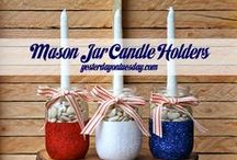 Mason Jars - 4th of July / by Malia Martine Karlinsky