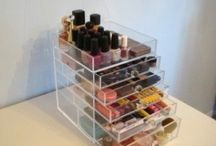 Makeup Organizers /  Hi my Pintrest friends :) If you love my pins, please share them on Twitter and Facebook too. Thanks :)  / by Elizabeth Lapenta