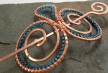 Wire Brooches/Hair Clips/Shawl Pins / by Betty C