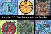 Reuse Compact Discs / A collection of upcycled projects and ideas using old CD's. / by Christine Turner|Reuse It Gal