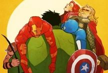 superheros and villains / by Heather Barnes