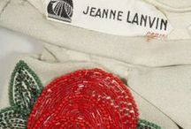 Broderies, perlages & rubans / Somewhat similarly to the painters she admired and collected, Jeanne Lanvin used fabric like canvas to display her art. Pearls and embroidery were her paints and brushes. Unwilling to call upon the services of embroidery houses, she created her own in-house embroidery workshops managed by Madame Camille and Madame Mary.  / by LANVIN Paris