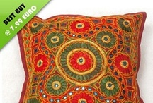 Embroidered Cushion Covers / Embroidered cushions covers add to the getup of your rooms and makes the entire ambience elegant. These handmade cushion covers are available in a variety of intricate designs and gorgeous colors. / by Essentially Indian