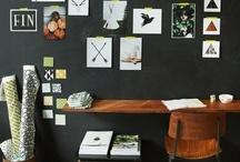 Home Office / Uffici noiosi e asettici, dove tutto si ripete... Colori, scrivanie, sedie, tutto uguale... Ma in casa mia no, questo è il Mio studio,dove idee e lavorano si stringono la mano,dove io posso finalmente essere Me stesso. / by Clipit Arredamento