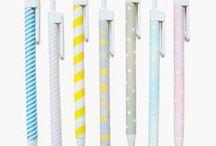 pen and paper /  school supplies / by Joanna Hawley / Jojotastic