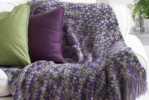 Crochet - Afghans, Pillows, Blankets & Throws / by Karen Hull