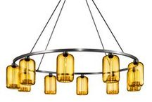 Niche Modern Sola 60 Modern Chandelier / The SOLA CHANDELIER can easily be customized to suit your project. Each chandelier and glass fixture is hand-crafted in the United States.  / by Niche Modern