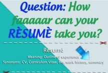 007 A+ for the Resume / CV tips & tricks to help you get that dream job you've always wanted. / by 007 Marketing