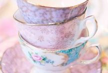 Time for Tea / I started drinking tea, and dream about beautiful floral teacups. If only I were British...heehe / by Aubrey Yorko