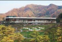 Whistling Rock Golf Clubhouse (Chuncheon, South Korea) / Golf clubhouse of 7,500 m2 with 27 holes golf course, restaurants, luxury apartment, pro shop, service areas, wine cellar, banquet rooms, bathing areas and multiple lobby areas. / by mecanoo