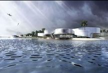 Waterfront Museum (Abu Dhabi, United Arab Emirates) / Iconic landmark Museum for Abu Dhabi with an approximate gross internal area 4,000m2 with 2,000m2 of exhibition space, 1,000 m2 of offices, restaurant, kitchen, storage, loading and parking set within an overall site area of approximately 10,000m2. / by mecanoo