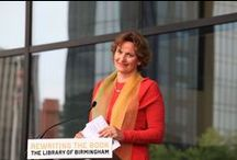 Library of Birmingham - Opening Day 03.09.2013 / 'September 3rd 2013 is a new day for Birmingham' the architect Francine Houben begins her speech at the opening. / by mecanoo