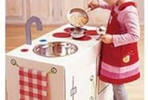 Create!~Kids Play Kitchens, Play Centers, and Work Benches / the place for diy inspiration to create a tiny chef's dream, or a little handiman's helper! / by Peggy Jackson
