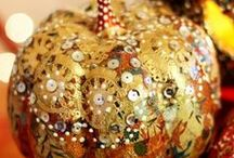 Holiday!~H'ween Pumpkin Dressing, Decorating, and Crafting / the place to find diy inspiration to craft your gourd-carving, painting, decoupaging, and embellishing! / by Peggy Jackson