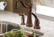The Moen Line of Products / All the best from the Moen collections of bathroom and kitchen fixtures, lighting, cabinet hardware, and more. / by Homeclick.com