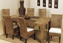 Rattan Home Furnishings / Rattan has made a commanding entrance to the indoors, becoming a wildly-popular material choice in furnishing homes of all styles and design.  It has recently become a very trendy choice in interior decorating.  Rattan furnishings are showing up in all rooms of the home, including bedrooms, living rooms, dining rooms, home offices, bathrooms, conservatories, and beyond.  Here is a great compilation of rattan pieces ranging from beds and dining room suits, to light fixtures and accent pieces. / by Homeclick.com