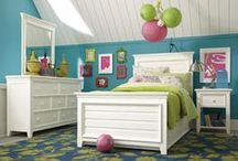 Dreamy Children's Bedrooms / Decor ideas and inspiration for designing and decorating a child's bedroom.  Dressers, end tables, beds, lighting, color schemes and more, all for fashioning a bedroom that your little boy or girl would love to call their own. / by Homeclick.com