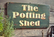 Potting Benches and Sheds / by sharon parfett