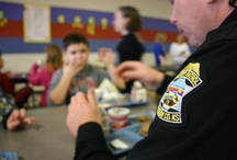 Edgerton Elementary  / Deputy Anderson eating lunch with the kids at Edgerton Elementary school / by Johnson County Sheriff