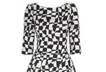 50's Graphic Print Dress - Black / by Suzannah