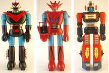 """Shogun Warriors / The Shogun Warriors were the central characters of a line of toys licensed by Mattel Inc. during the late 1970s that consisted of a series of imported Japanese robots based on the then popular anime shows featuring giant robots. Originally manufactured in three sizes: the 24-inch (610 mm) plastic versions, the 3.5-inch (89 mm) diecast metal versions and the slightly taller but much more detailed and articulated 5"""" diecast versions, several vehicles were also offered as well as a set that could b / by Scott Kinney"""