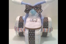 Diaper Cakes, wash cloth baby's, toys, etc. / by Kathy Kate Rager Thornton
