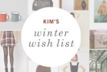 Winter Wish List: Kim / A wish list inspired by rustic getaway wishes from Petunia's photo shoot stylist, Kim. / by Petunia