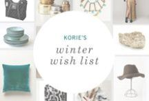 Winter Wish List: Korie / A bohemian bounty of winter wishes from Petunia's CMO, Korie. / by Petunia