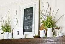 decorate :: mantels / by Becky | Clean Mama