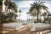 The Waterfront Beach Resort, A Hilton Hotel / by Waterfront Weddings