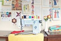 {sewing & design spaces} / by Michelle Marie