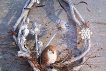 Winter Wreath DIY and Inspiration / Wreaths that will brighten up your winter with minimal holiday influence.   / by Bernadette Fox