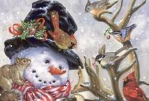 ♥ Snowman ☃ / *⋆..⁀*ღ,‿☼°⁀❤♡°*⋆.. / by ♥Jan Van Dyke