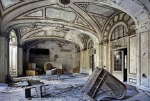 beauty : urbex / Urban exploration (often shortened as urbex or UE) is the exploration of man-made structures, usually abandoned ruins or not usually seen components of the man-made environment. Many explorers find decay of uninhabited space to be profoundly beautiful. / by Renee Pearson
