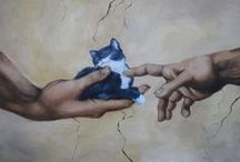 Ailurophile / Ailurophile: A person who likes cats; cat fancier. I am crazy for cats. Meow! / by Julie Lane