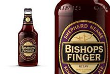 Bishops Finger / Bishops Finger takes its name from the finger-shaped signposts which pointed pilgrims on their way to the tomb of Thomas a Becket in Canterbury and was the first strong ale to be brewed by Shepherd Neame after malt rationing was eased in the late 1950s. It is also one of the UK's oldest bottled beers, brewed since 1958. / by Shepherd Neame