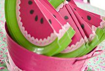 Watermelon theme party / by Nancy Arabian-Tanachian