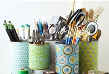 Craft Room & Home Office Ideas / by Adele Maxwell