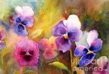 Watercolors - Spring Blooms / by Catherine Wadhams