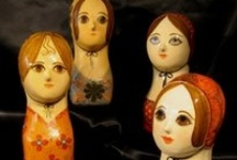 Gemma Taccogna / Anna has collected Gemma Taccogna's papier-mâché creations for years, and she has acquired hundreds of examples.  Gemma's millenary stands and pincushions were the inspiration for Anna's iconic Dolly Girl emblem.   / by Anna Sui
