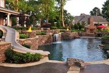 Home Deck, Patio, Garden & Yard / #Deck #Patio #Pool #Yard #Garden #Beautiful #Dream-Home / by Thandi Dlodlo