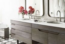 Bath / Marble and water are a perfect pairing, we love a beautiful place to refresh and prepare for the day.   / by Suz Born