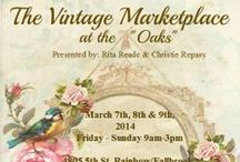 The Vintage Marketplace / The Vintage Marketplace is held every 3 months. 3 days of Vintage Fun.Located 4815 5th st Rainbow Ca 92028 off the 15 frwy 3 miles so.of Temecula Ca.Call 760-645-3946 for info.NEXT MARKETPLACE March 7th 8th & 9th 9-4 both days.sun 9-2 over 50 artisans & vintage vendors.Offering Antique&Vintage finds from,cottage style,industrial,shabbychic,french,rustic farm,patio garden,furniture,handmade clothing,jewerly&more.Resturant,Country Store,Gas Station & ATM on premises... / by * Touched by Time