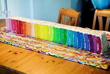 Rainbow Inspiration / Rainbow Party Ideas, Rainbows, Rainbow Cakes, Rainbow Party Decorations, Rainbow Cookies, Rainbow Birthday Party, Rainbow Cupcakes / by A to Zebra Celebrations ~ Nancy ~