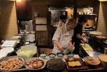 Kimono food and drink / 着物と一緒にお洒落に食事を / Best food with kimono / かしこまった食事だけではないですよね / by Aiyama Kimono / あい山本屋 リサイクル着物専門店
