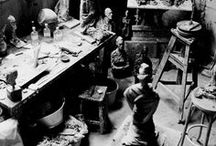 studio somethings / artists, their workspace, their tools / by V A