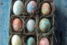 Easter  / Ideas for decorating Easter eggs, beyond the basic food coloring dunk / by Rebecca Deming Rumpf