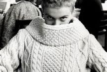 Vintage Aran sweaters and knits / Because winter. / by SWANclothing - garters, suspenders, and accessories.