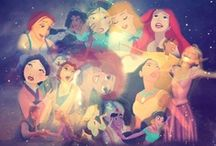 Disney Princesses / These princesses are not weak, and they don't teach young girls negative stereotypes.  What they do show is that you don't have to sacrifice femininity for strength. / by Shekinah Kifer